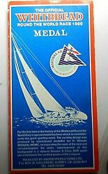 The Official Whitbread Round The World Race 1989 Medal In Folder