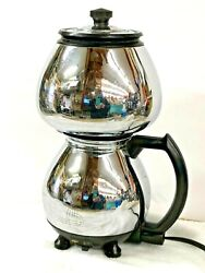 Vintage Sunbeam Coffeemaster C20-b Double Bubble Coffee Pot In Working Condition