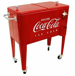 Leigh Country Cp 98105 60 Qt Coca-cola Ice Cold Embossed Cooler Red