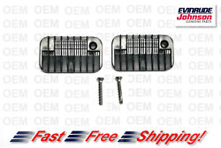 New Omc Johnson Evinrude Gearcase Water Inlet Screens And Screws Kit 336206 325539