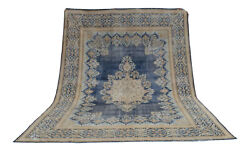10x13 Rug Vintage Hand Knotted Rug Oversized Distressed Area Rug Actual 114x157″