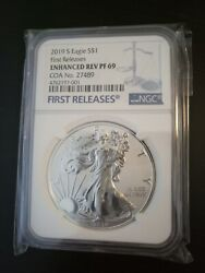 2019 S Enhanced Reverse Proof Silver Eagle 19xe Ngc Pf69 First Release