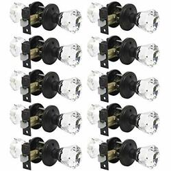 Privacy Door Locks With Crystal Knobs Oil Rubbed Bronze 10packbed Bath Interi...