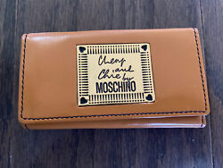 New Cheap And Chic By Moschino Tan Brown Gold Key Holder Wallet