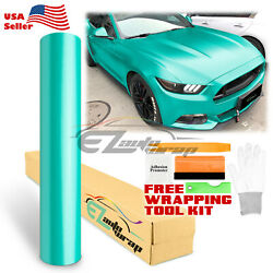 Premium Matte Metallic Satin Pearl Lake Green Vinyl Car Wrap Sticker Decal Film