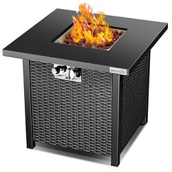Serenelife Outdoor Propane Fire Pit Table-csa Approved Safe 40,000 Btu