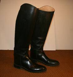 Effingham Ladies English Riding Tall Boots Size 9 Black. Style 100l Exc. Cond