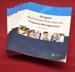 7 Oregon Real Estate Pre-license Books 2016 Lot On Course Learning Set 2nd Ed