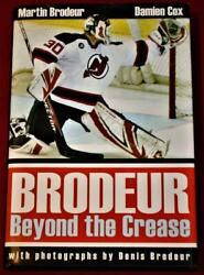 Martin Brodeur New Jersey Devils Goalie Beyond The Crease Signed Hardcover Book