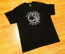 Audiophile Pine Tree Audio Black And White T-shirts Large And Xl