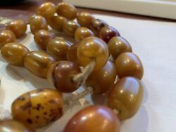 Antique African Amber Necklace, 105 G. 19 C