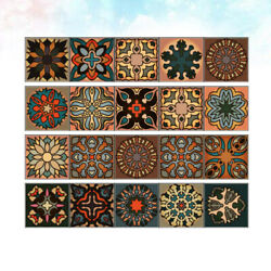 Home Dorm for Moroccan Style Decals Cabinet Door Stickers PVC Wall Pasters 4pcs