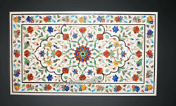 30 X 60 Inches Marble Restaurant Table Top Royal Pietra Dura Art Dining Table
