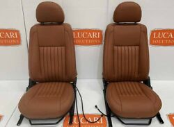 Tan Fluted Leather Heated Tdci/ Front Seats Fit Land Rover Defender 90/110