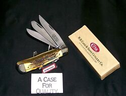 Case Xx 5354 Knife Ibca Sfo Trapper 1995 Sambar Stag W/packaging,papers Rare Set