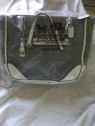 Coach Women's Gray Poppy Quilted Jersey Small Chain Tote Shoulder Bag -- Nwt
