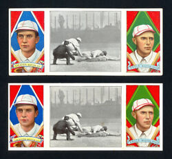 1912 T202 Tris Speaker Both Variations Red And Black Hassan Backs Boston Red Sox