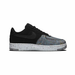 Nike Menand039s Air Force 1 Low Crater Black Photon Dust Cz1524-002 Authentic New