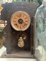 1850 Antique Rare Hand Carved Co New York United States Of America Ansonia Clock