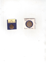 U.k.silver 1787 Coins,professionally Mounted