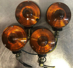 4x Amber Marker Lamps - Unknown Maker - Very Good Condiiton