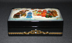 Mumonkan Russian Lacquer Box Snow-maiden Fairy Tale Fedoskino Best Quality