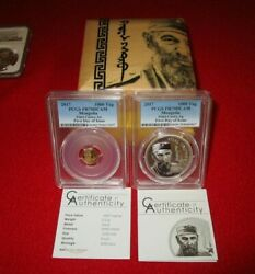 2017 Mongolia Fidel Castro .999 Gold And Silver 2 Coin Proof Set Pcgsandnbsppr70 Asian