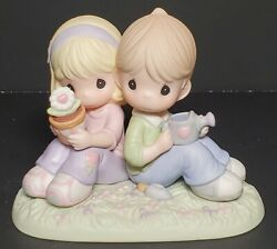 Precious Moments Love Is Always In Bloom Porcelain Bisque Figurine New /box