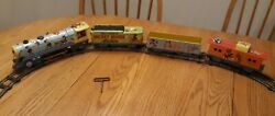 Vintage Walt Disneyand039s Mickey Mouse Meteor Train Tin Wind Up 1950and039s Marx Toys