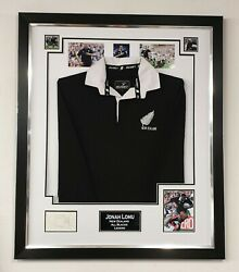Jonah Lomu Signed Autographed Display And Shirt All Blacks Jersey Framed Display