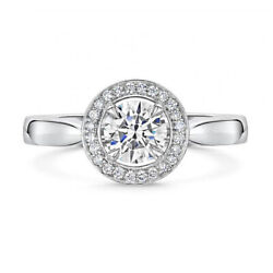 0.72 Ct Natural Diamond Anniversary Ring For Ladies 14k White Gold Size 7 8 9 5