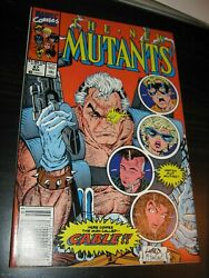 New Mutants 87 Newsstand Variant Nm+ 9.6 Marvel Comics1992 Cable1st Appearance