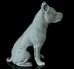 Pit Bull Terrier Sculpture Marble Animal Dog Figurine Hand Made In Russia