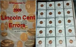 An Introduction To 2009 Lincoln Cent Errors By James A Porter + Set 20 Bu Errors