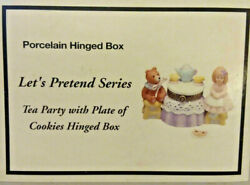 Phb Midwest Of Cannon Falls Trinket Box Letand039s Pretend Tea Party W Cookies Dv80