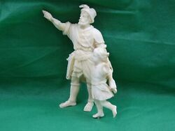 As Is For Restoration Antique European Hand Carved Figurine Statue Very Fine