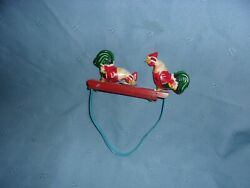Vintage Tin Metal Rooster/chickens Pecking Hand Squeeze Toy - China Mm059