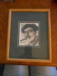 Groucho Marx Signed 4.5x3.5 Matted And Framed 905