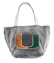 Miami Hurricanes Vintage Tote Purse [new] Ncaa Clutch Bag Backpack Wallet Id