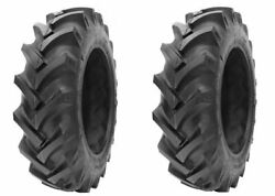 2 New Tractor Tires 12.4 28 Gtk R1 8 Ply Tubetype 12.4-28 12.4x28 Fsc