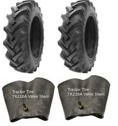 2 New Tractor Tires And 2 Tubes 13.6 28 Gtk R1 8 Ply Tubetype 13.6-28 13.6x28 Fsc