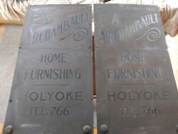Antique Etched Metal Signs
