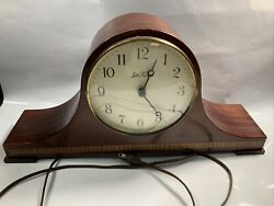 Antique Seth Thomas Chime Wood Mantle Clock 1302 Works Great