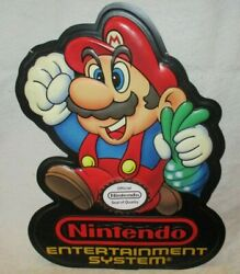 Nintendo Entertainment System Mario 2 1989 Vintage Store Sign 80and039s Rare Display