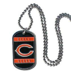 Chicago Bears Tag Style Necklace [new] Nfl Jewelry Chain Choker Dog Dogtag