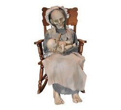 Ghostly Mom And Child Rocking Singing Lullaby Animatronic Cp J12