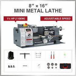 1100w 8x16 Inch 2250rpm Mini Metal Lathe W Brushless Motor For Metalwork And More