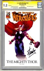 Incredible Hercules 132 Cgc Ss 9.8 Stan Lee Signed Thor Variant Cover