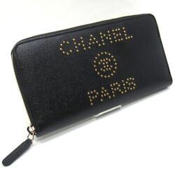 Authentic A80056 Y84046 94305 Deauville Studs Logo Rf Purse With Coi...