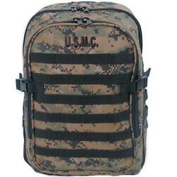 Usmc Backpack - Marine Corps Marpat Molle Pack - Military Woodland Camo Pack